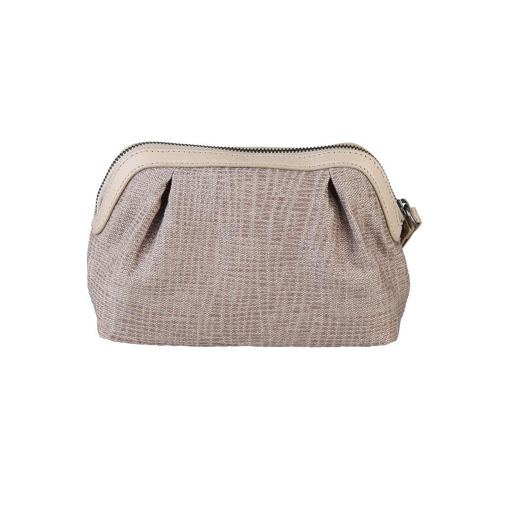 Armani white pochette bag