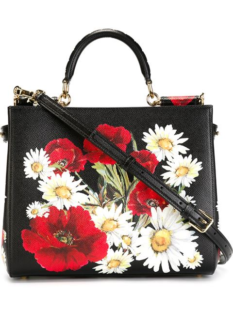 d3acca2ebbe6 D G Sicily Shopping Bag in Printed Dauphine Leather