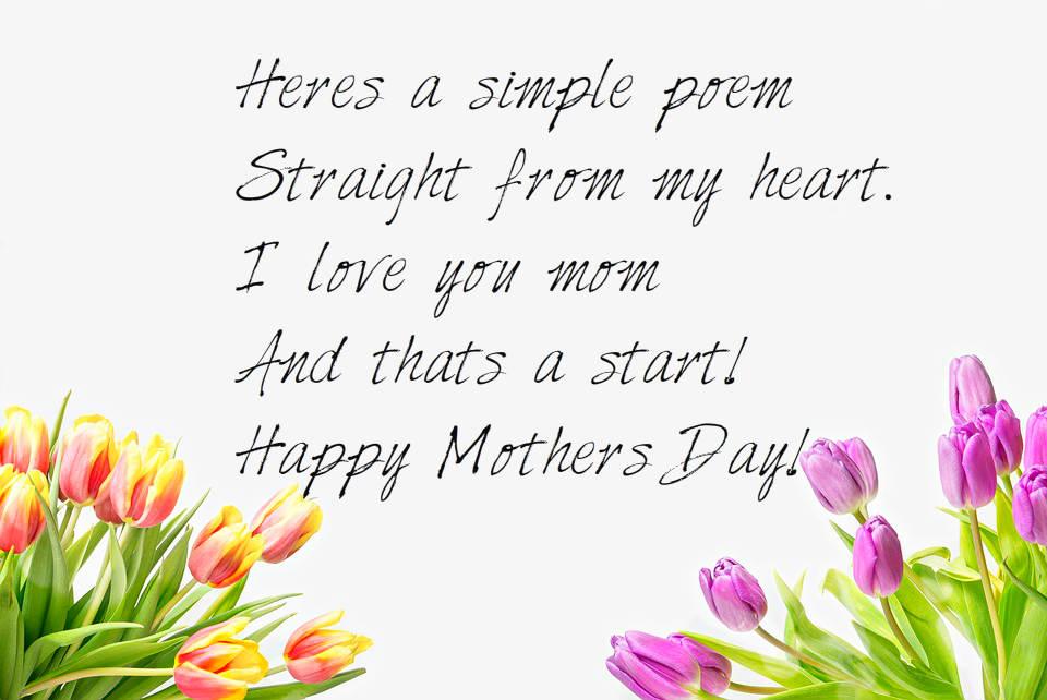 Mother's day flower poem