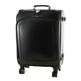 black trolley leather bags